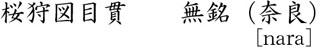 桜狩図目貫 無銘(奈良)商品名