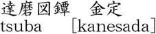 達磨図鐔 金定商品名