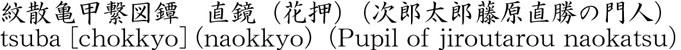 紋散亀甲繋図鐔 直鏡商品名