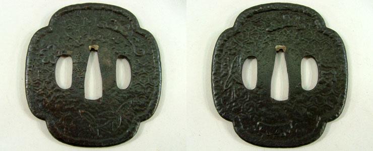 紋散亀甲繋図鐔 直鏡刃