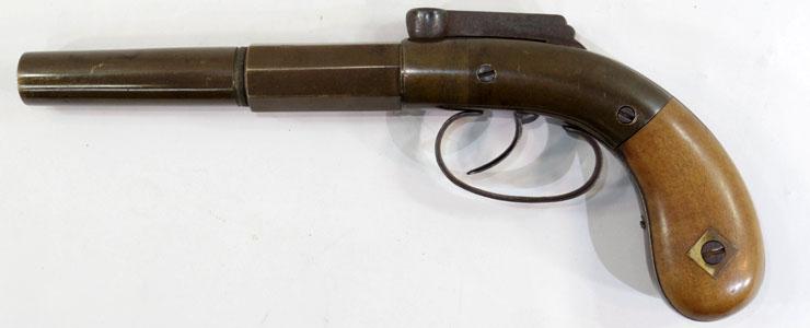 管打式短銃(バーハンマー管打銃)写真