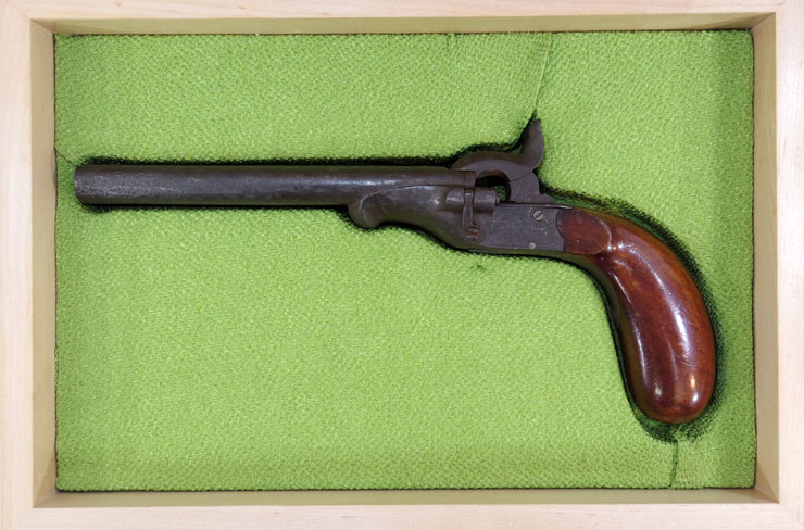 水平2連ピン打銃(明治十五年三月 第五十三号 大阪府)写真