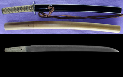 wakizashi (hizen_no_kuni tadatsugu New Japanese swords Exhibition winning work) (Nakao Tadatsugu)thumb