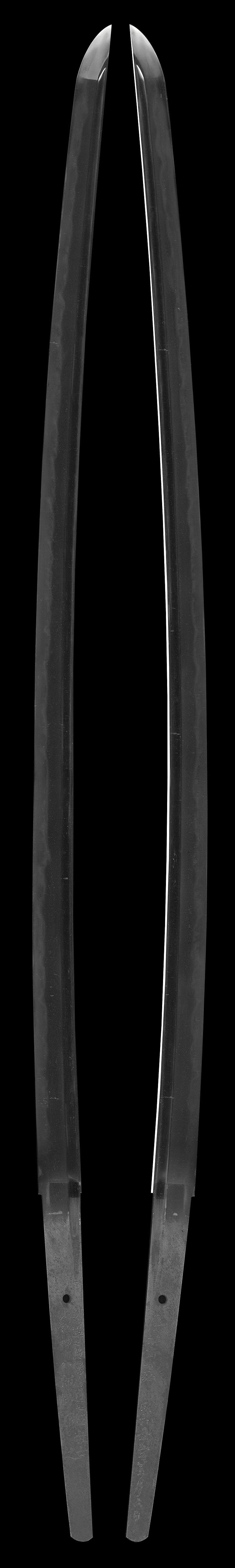 刀 剣道七段居合道七段教士和田八郎所用之  慶雲斎直弘  昭和三十五年手五月六日(柳川昌喜)全体画像