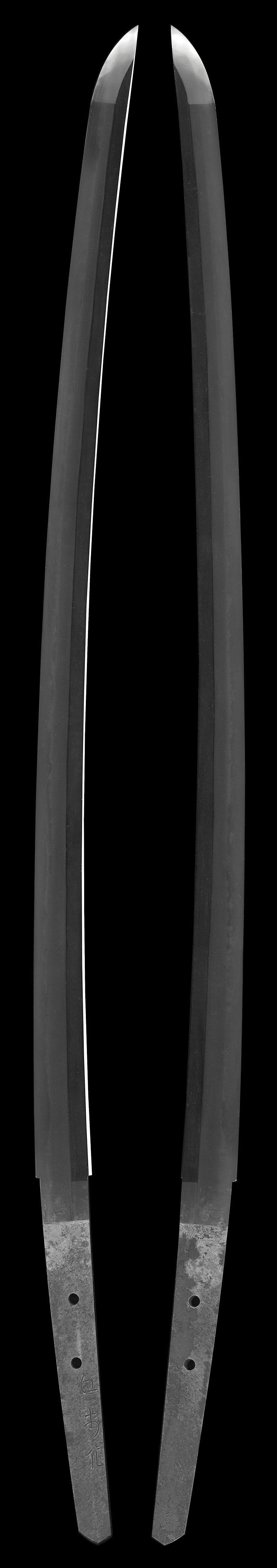刀 江村作(昭和) (一原長光) (軍刀拵入り)全体画像