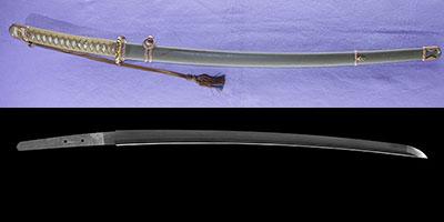 刀 江村作(昭和) (一原長光) (軍刀拵入り)thumb