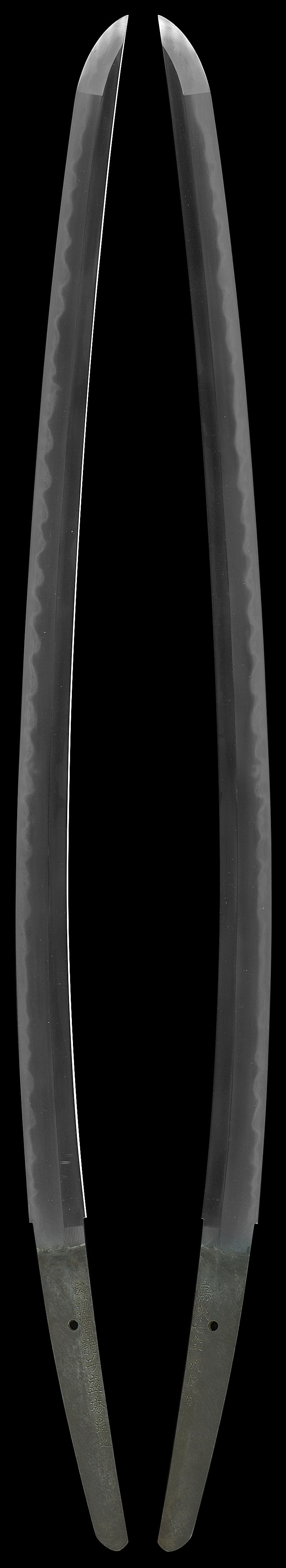 刀 於萩潜龍子盛秀造之  嘉永七年八月日全体画像