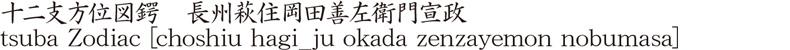 十二支方位図鍔 長州萩住岡田善左衛門宣政商品名