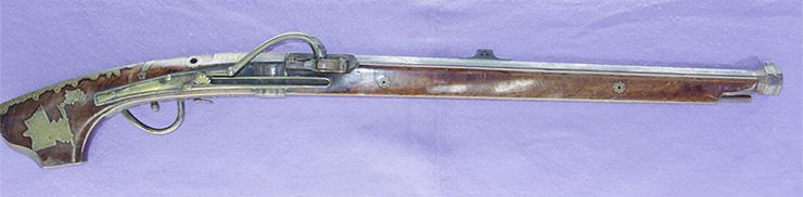 火縄銃 (馬上筒)象嵌写真